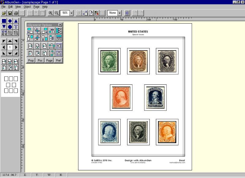 Albumgen 1 Stamp Album Page Ehxibit Layout Program Ebay